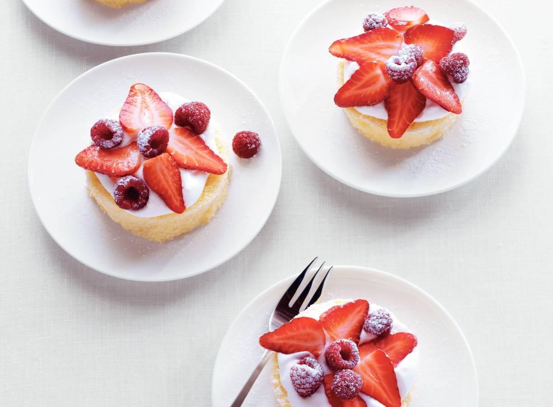 Supersnel gebakje met vers fruit