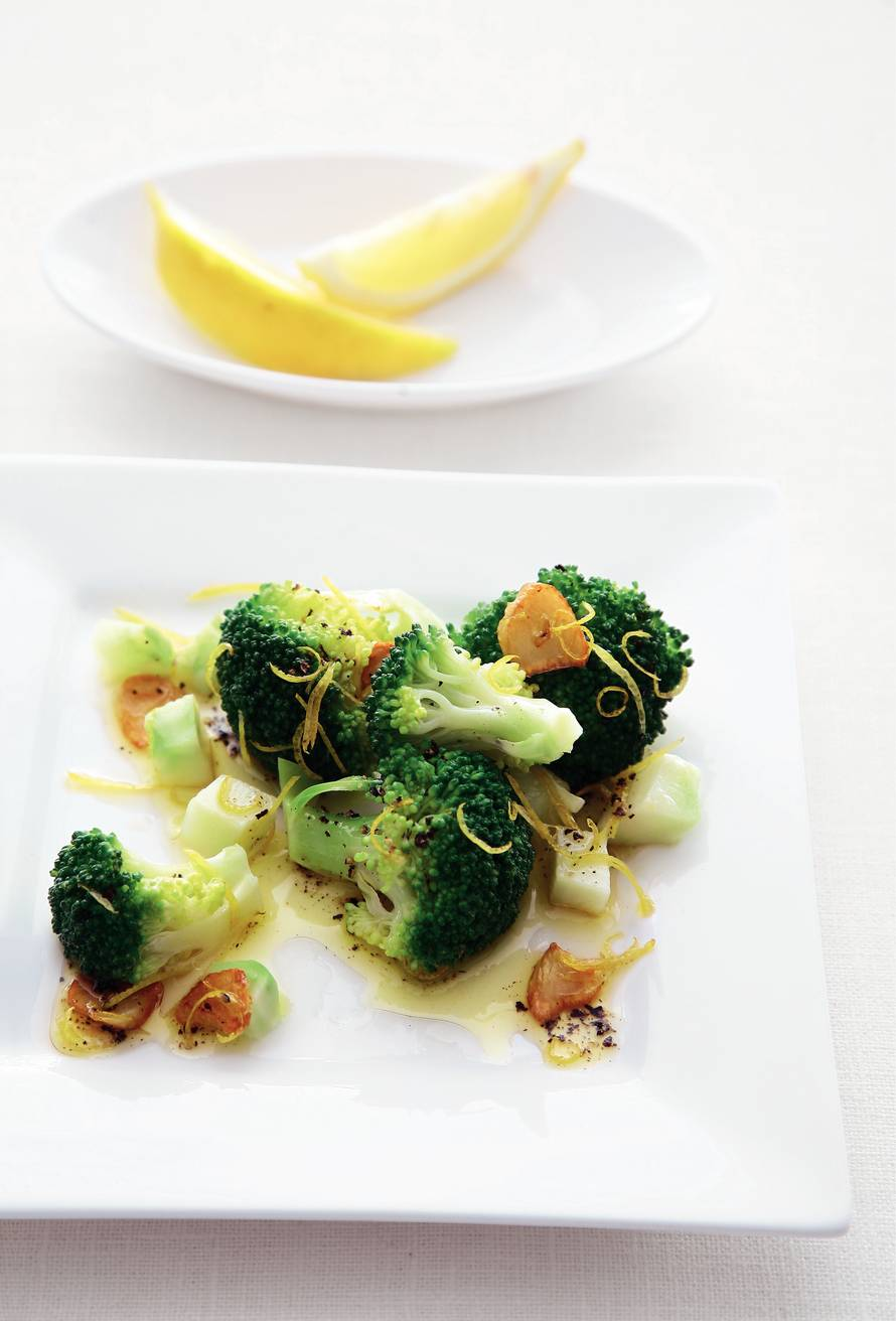 Broccoli met citroen en knoflook