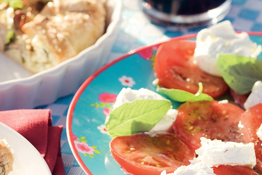 Tomaten-geitenkaassalade