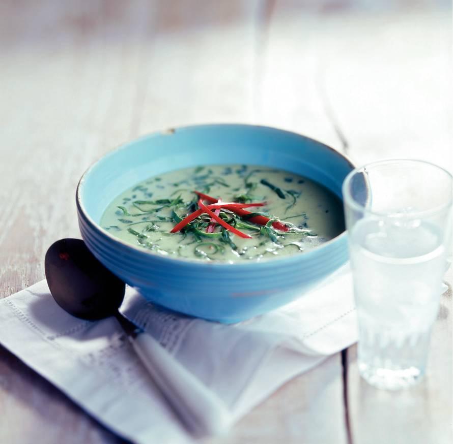 Pittige spinaziesoep
