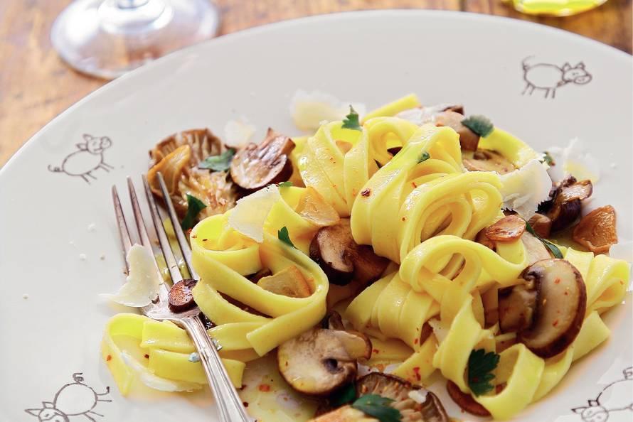 Tagliatelle met paddenstoelen uit Umbrië