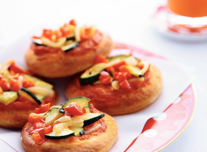Minipizza's met groenten