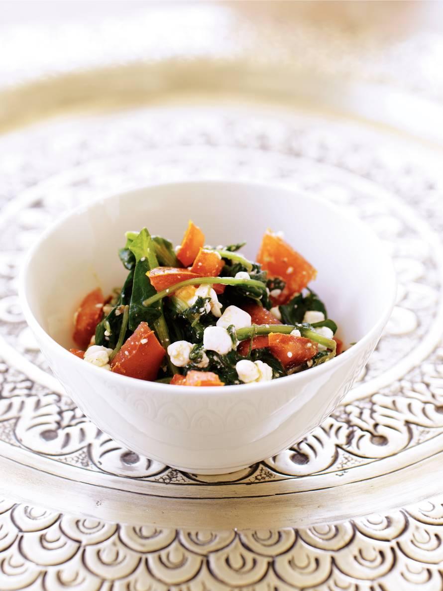 Gestoofde spinazie met verse kaas (saag paneer)