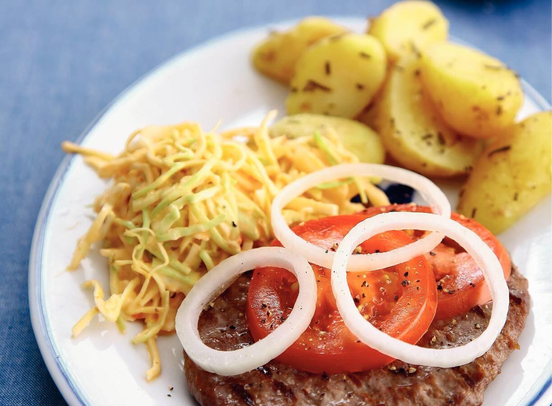 Grillburger met koolsla