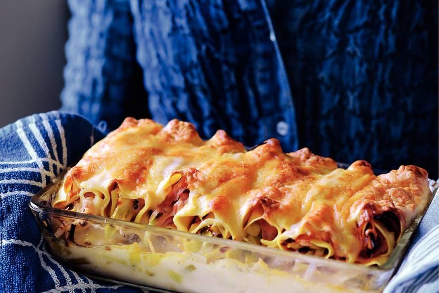 Preicannelloni met ham