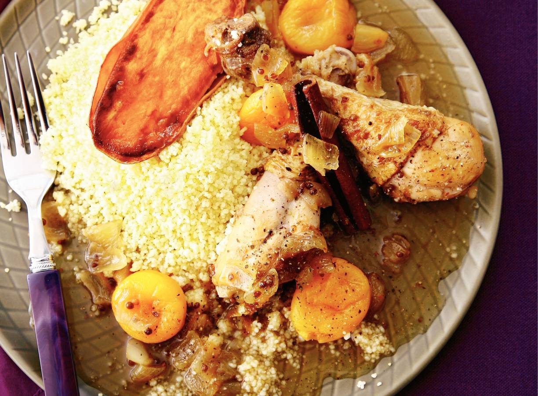 Marokkaanse kip met abrikozen