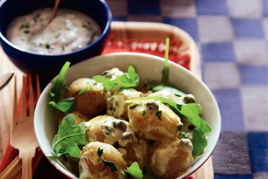Aardappelsalade met kappertjes