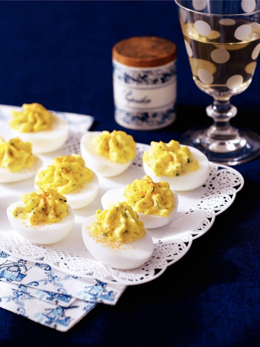 Pittige gevulde eieren