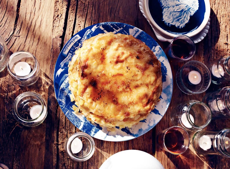 Crêpes-taart met appel