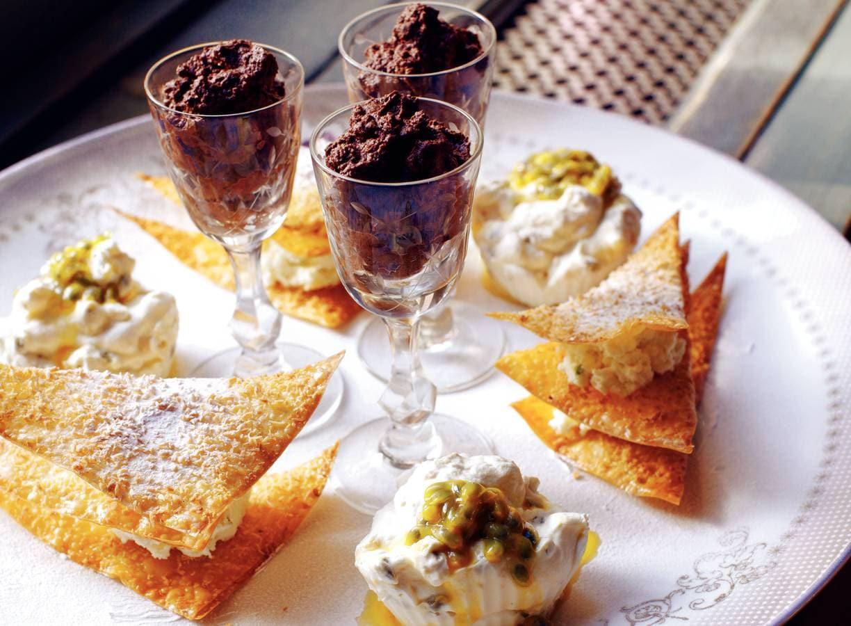 Grand dessert met 3 variaties