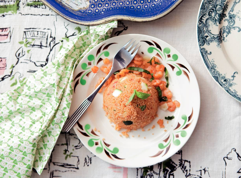 Couscous met garnalen