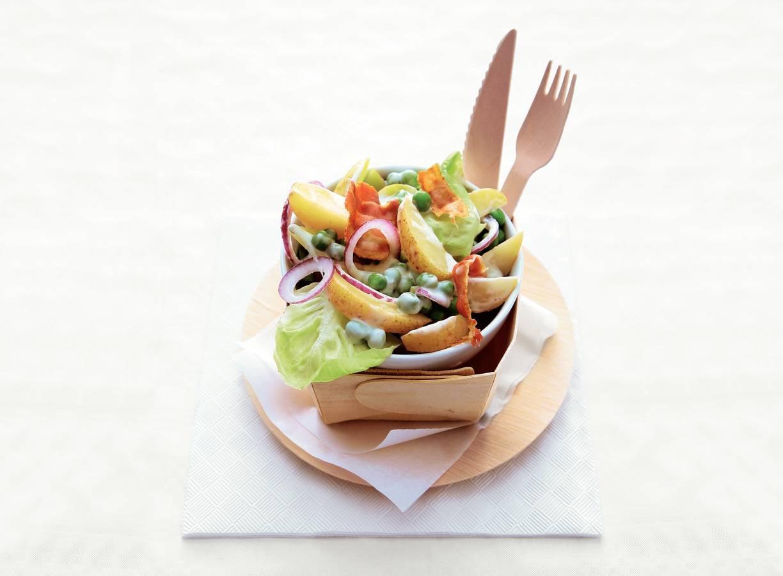 Luxe aardappelsalade met spekjes