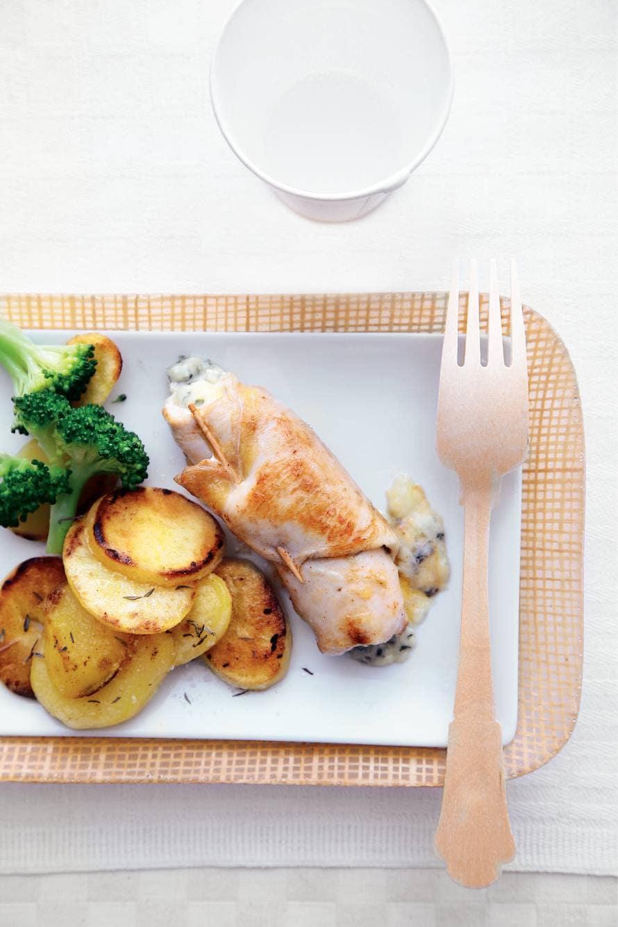 Kiprolletjes met blauwe kaas