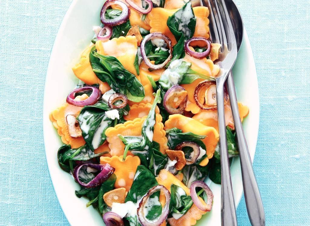 Ravioli met kaas en spinazie