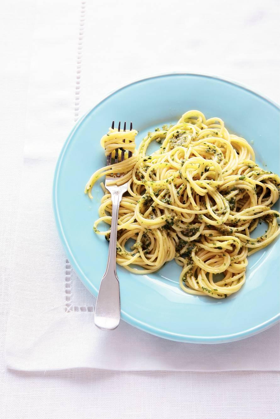 Ansjovis-spaghettini