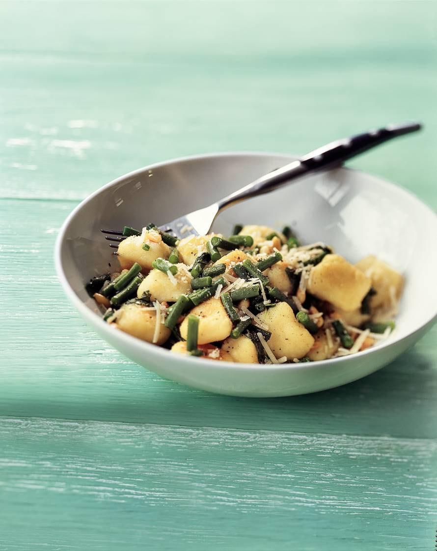 Knoflookgnocchi met haricots verts