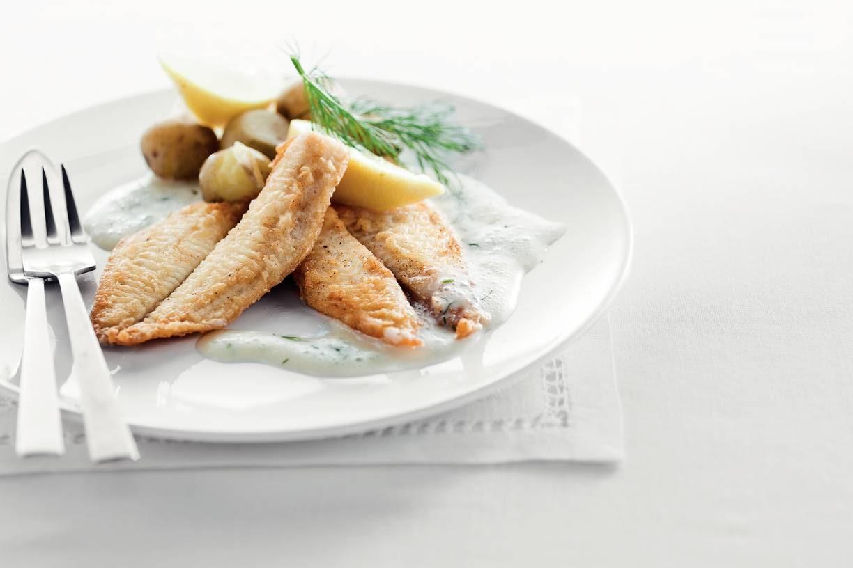 Yellowfin sole met dillesaus