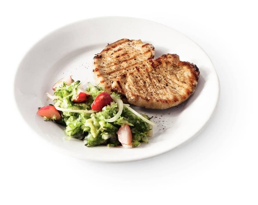 Salade met filetlapjes