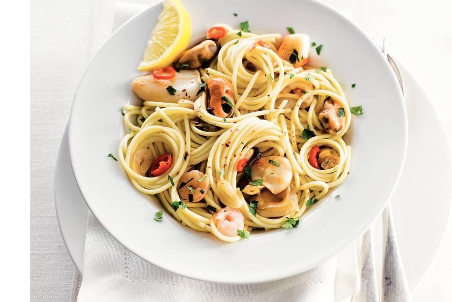 zeevruchten pasta recept