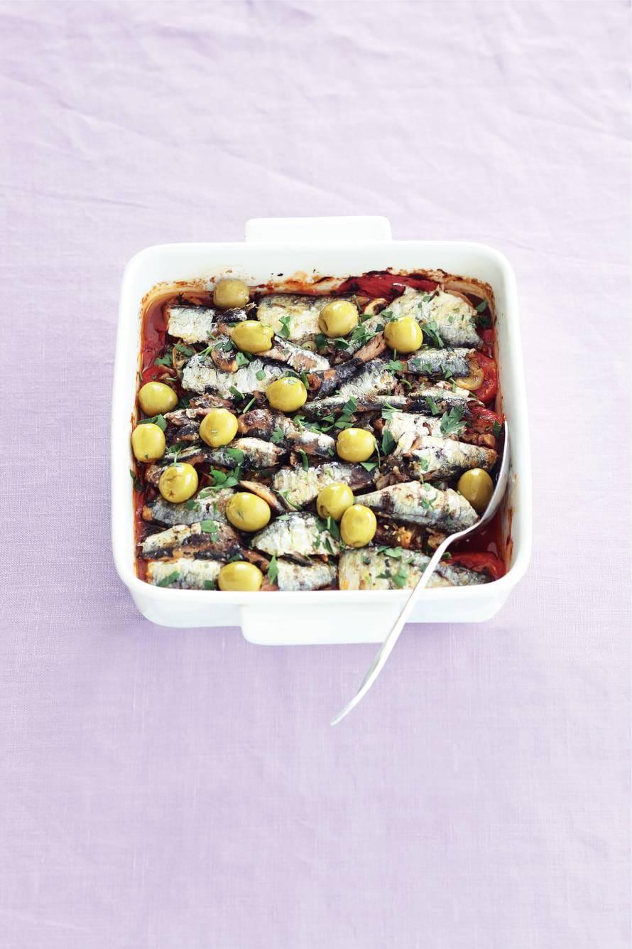 Tomaat-sardine-ovenschotel