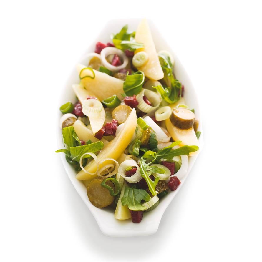 Aardappelsalade met salami