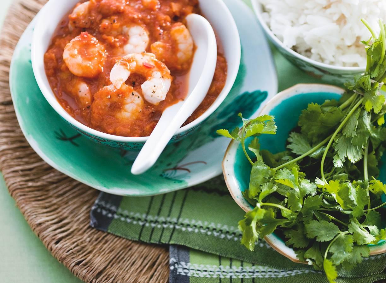 Tijgergarnalen-curry