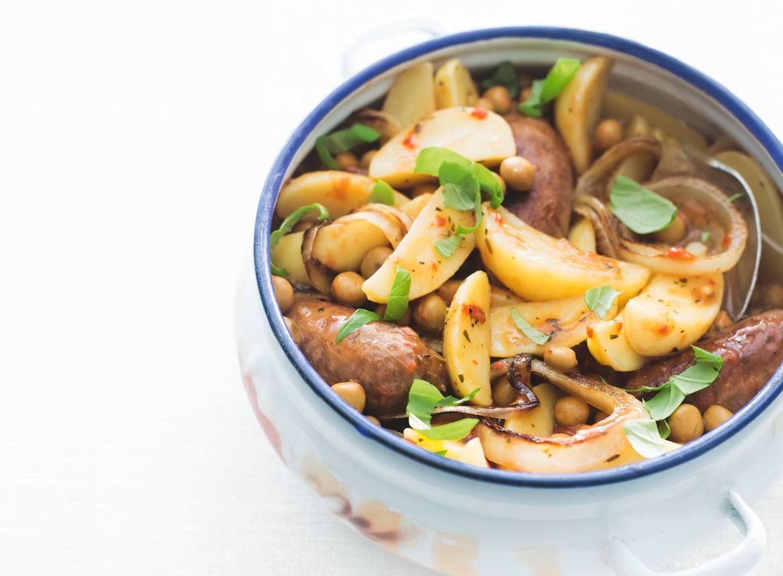 Aardappel, Toscaanse worstjes en veldertjes