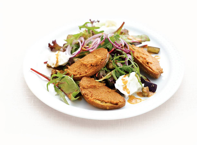 Salade rode pesto