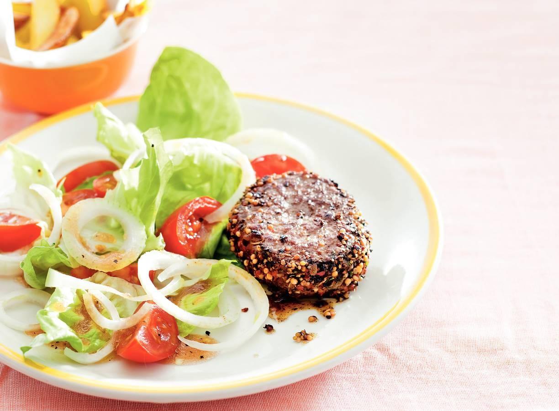 Steak au poivre met boerensla