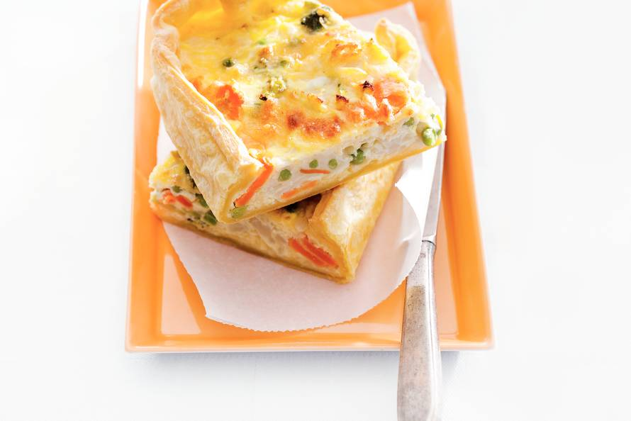 Groentequiche met kaas