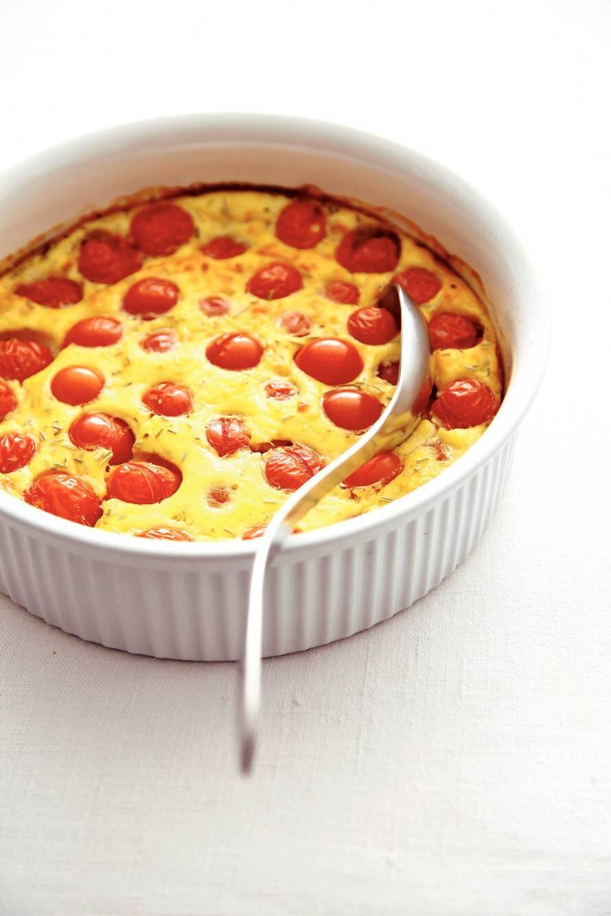 Tomaten in kaas uit de oven