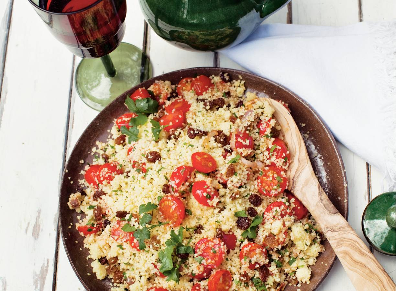 Couscous met kaneel en rozijnen