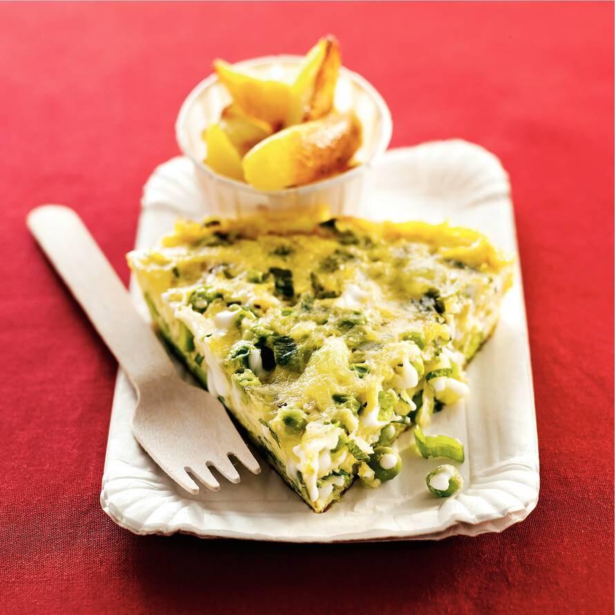 Groente-omelet met mozzarella