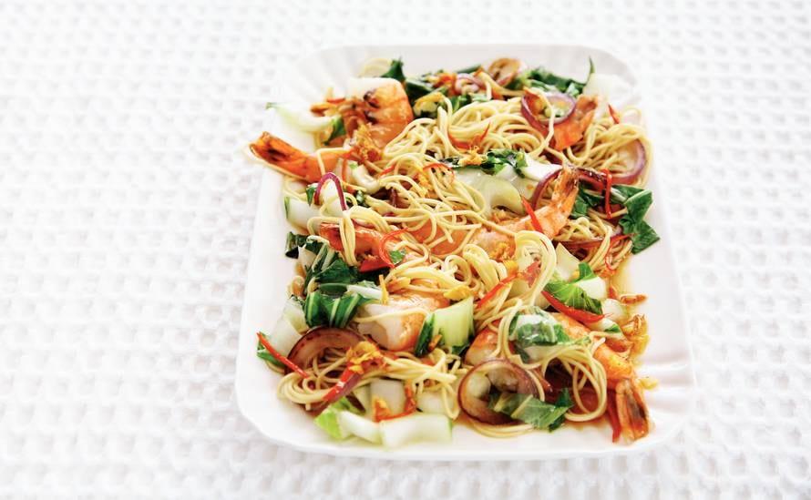 noodles recept garnalen