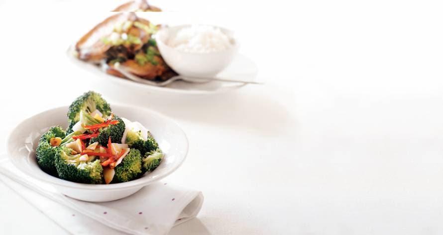 Broccoli & bamboescheuten
