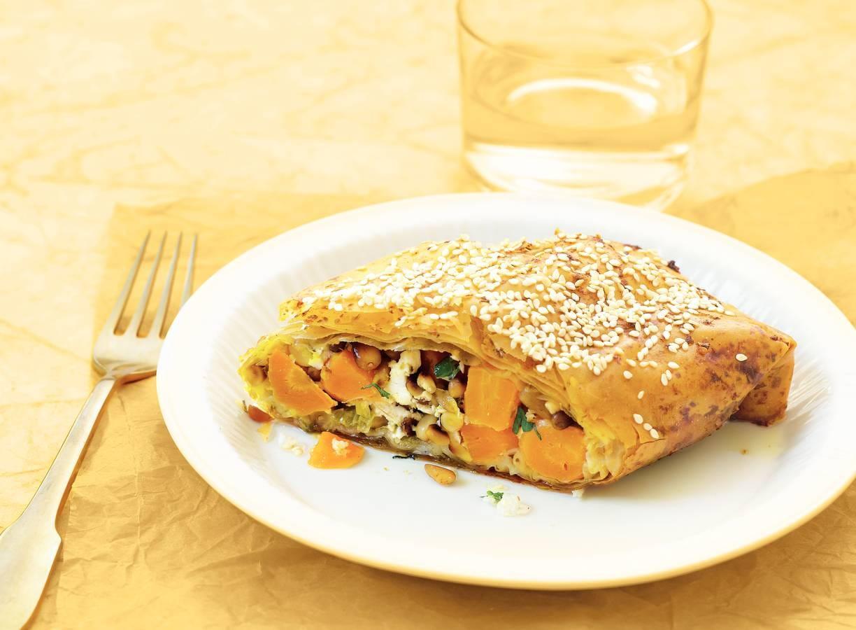 Filopakketje met wortel en kaas