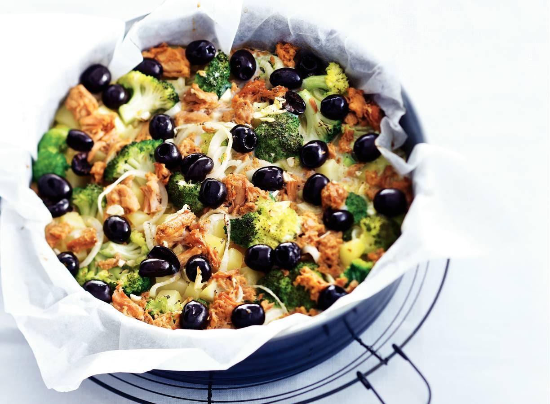 Tonijnomelet met broccoli