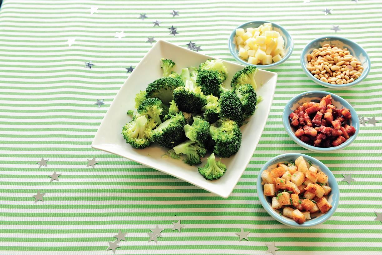 Broccoli met 4 toppings
