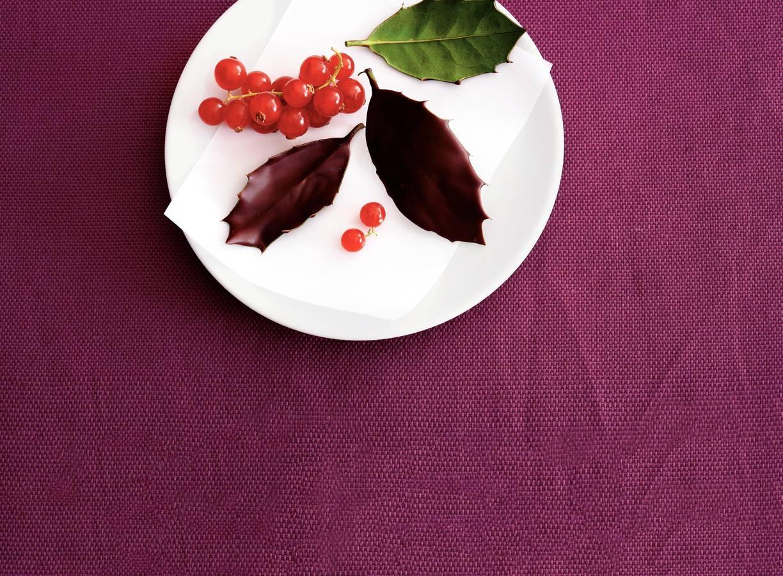 Chocolade-hulstblaadjes