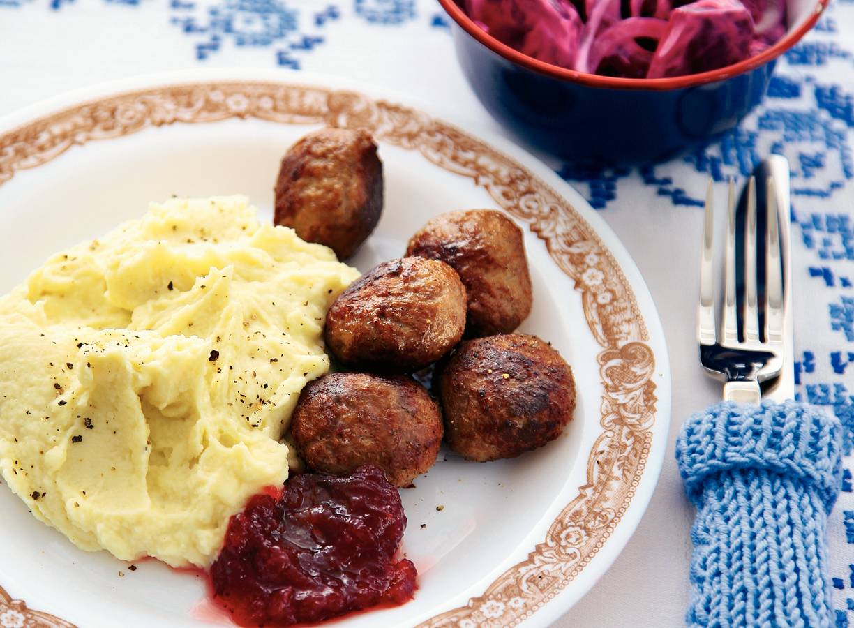 Zweedse gehaktballetjes met puree