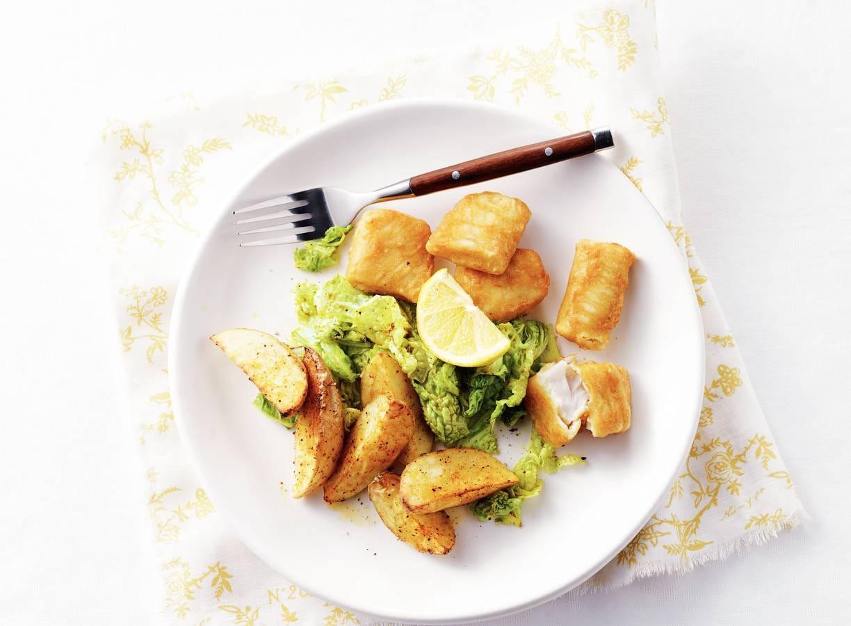 Vis & kruidige aardappelen