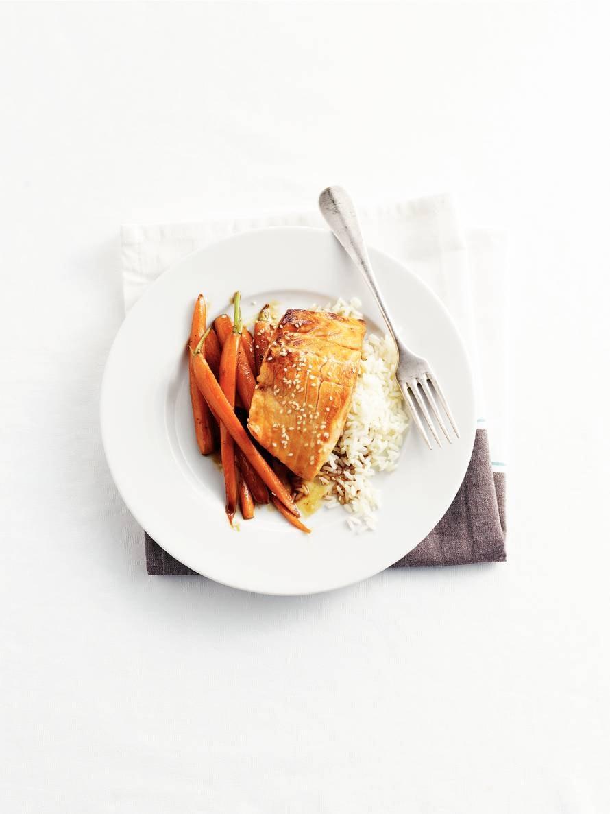 Zalm in soja-honingsaus