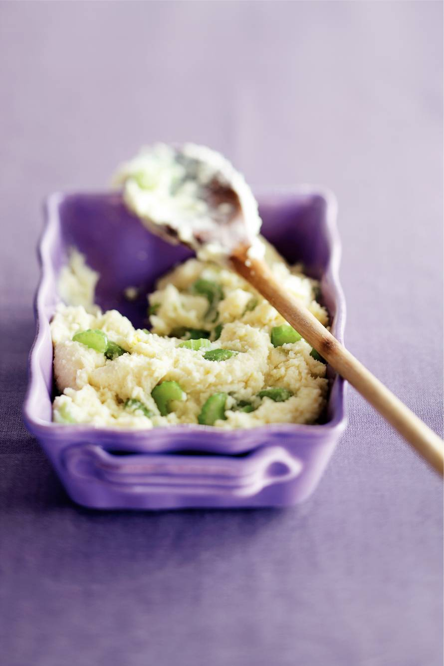 Aardappelpuree met bleekselderij
