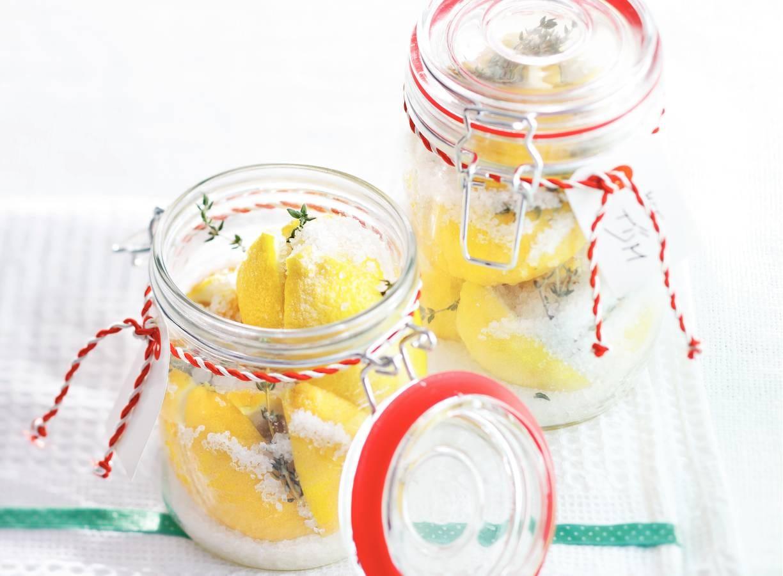 Ingelegde citroen met tijm