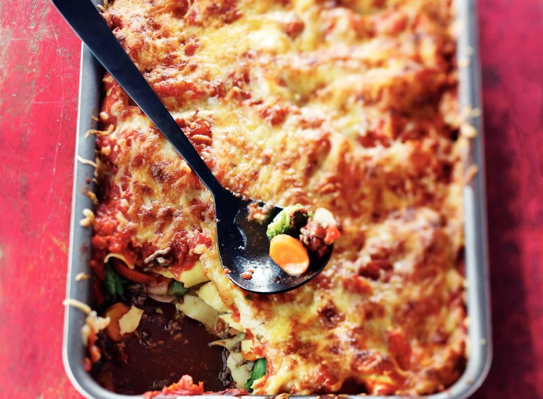 Lasagne met wokgroenten