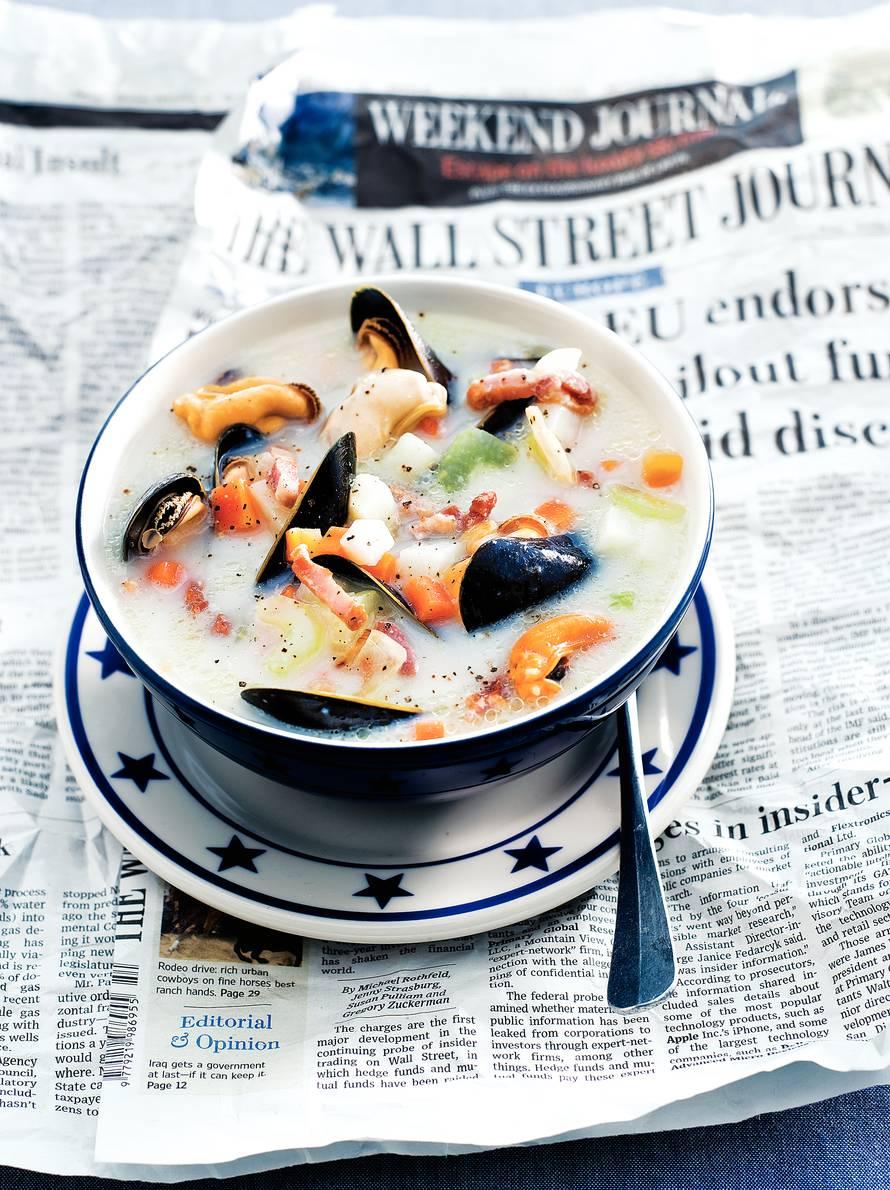 Boston clam chowder