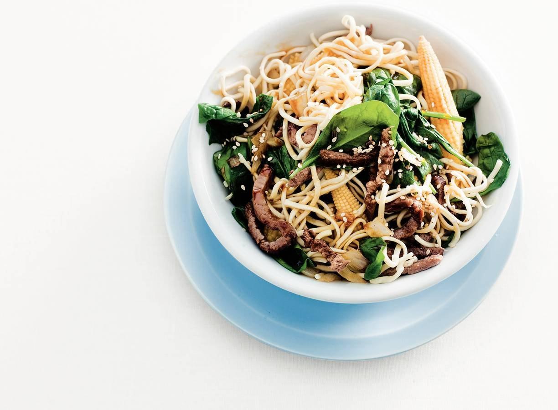 Lentewok met spinazie