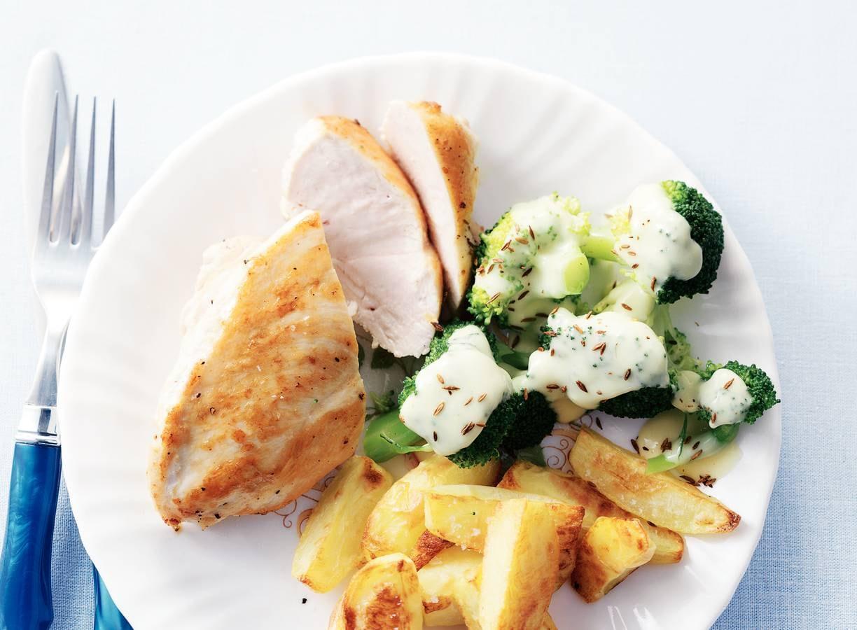 Broccoli, kip & kaassaus