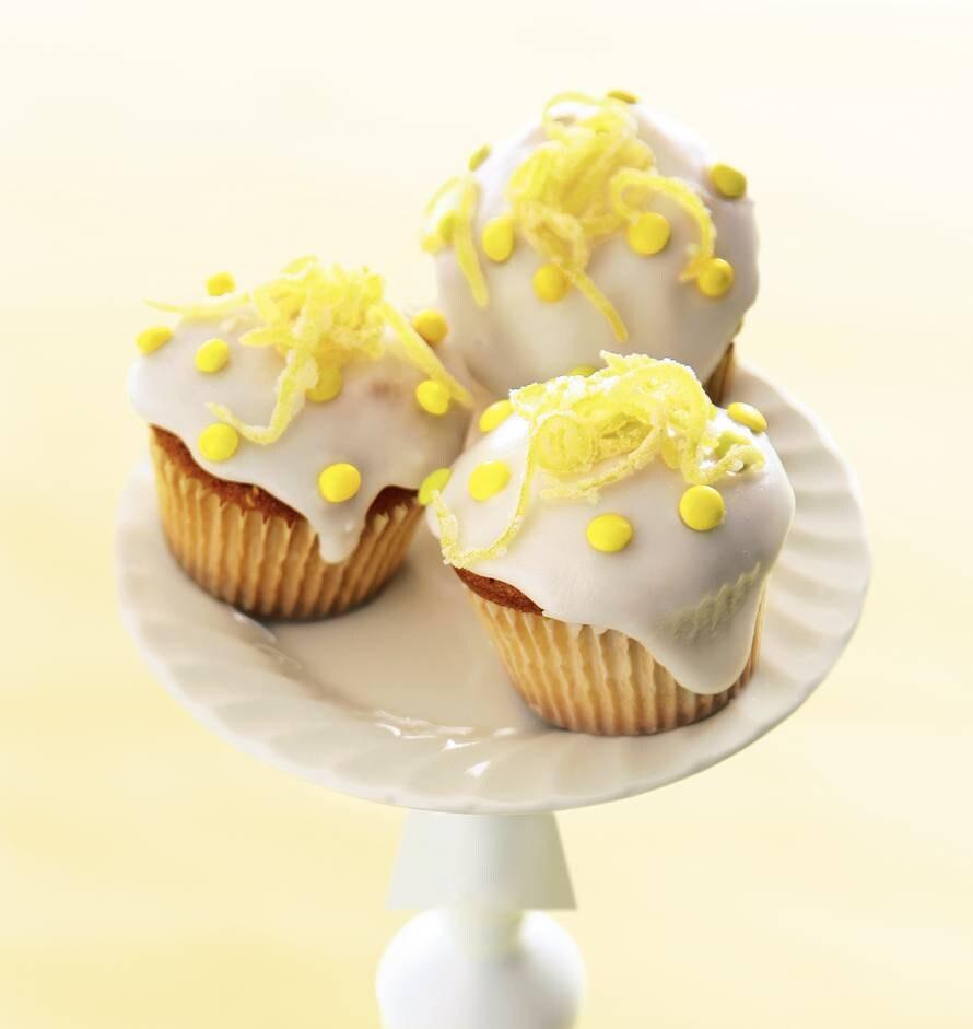 Citroen-honingcupcakes