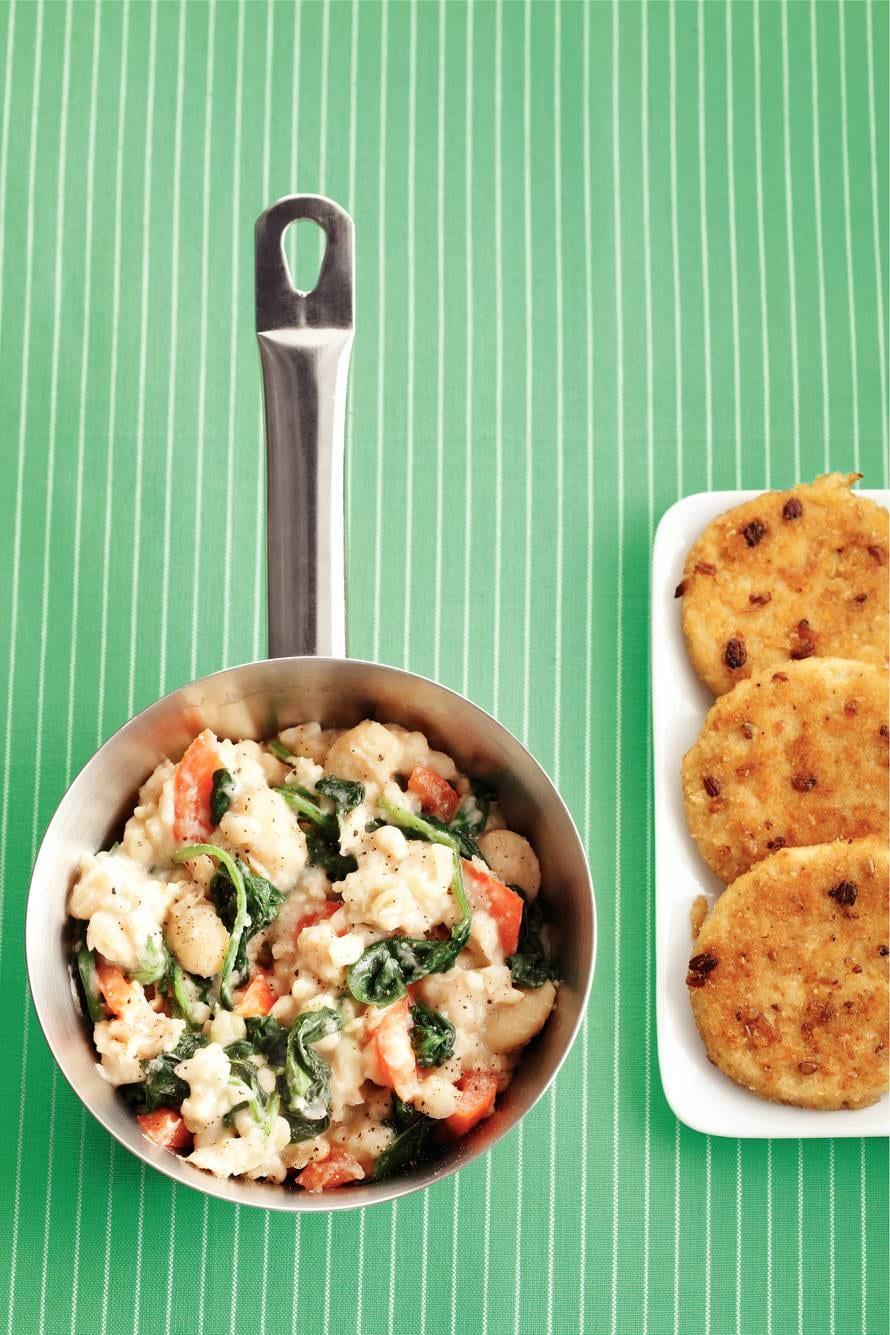 Wittebonenstamp spinazie-tomaat